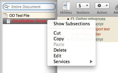 Display Subsections