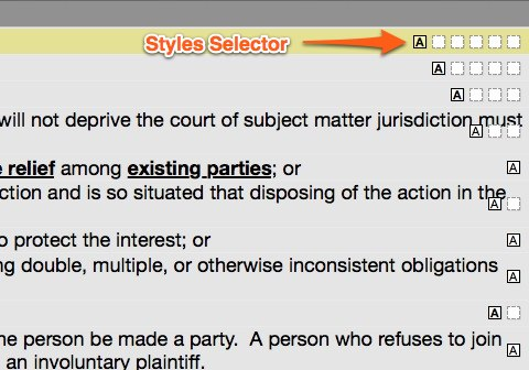 Styles Selector