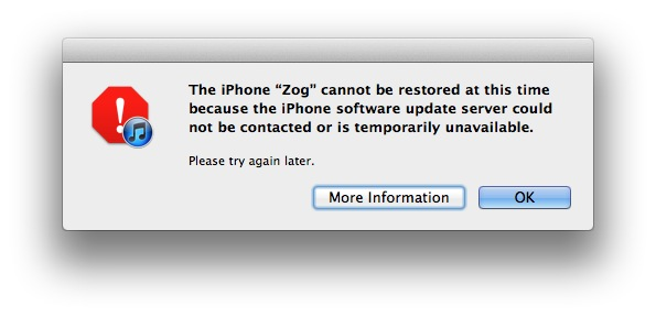 iOS Server Error