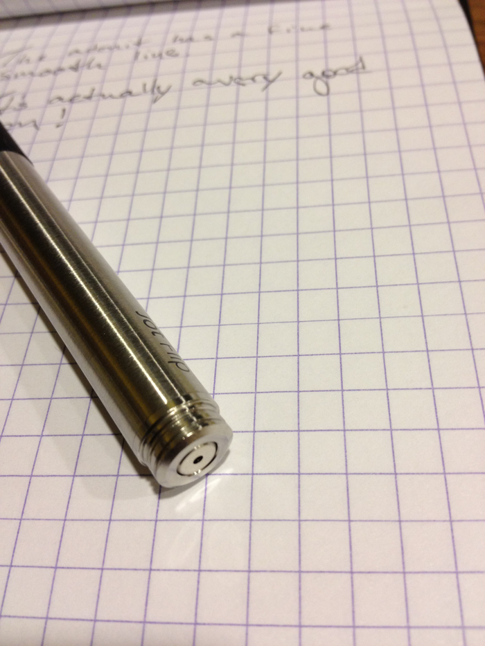 Retracted Pen Tip