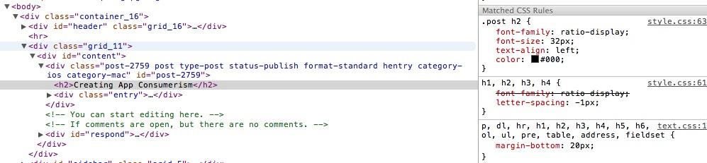 Safari CSS View