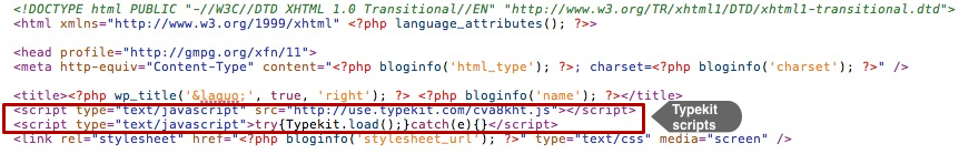 Typekit Scripts