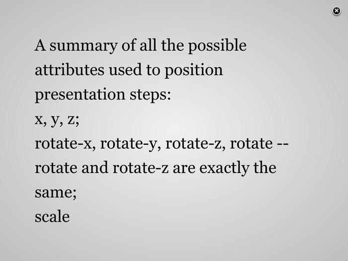 Slide Parameters