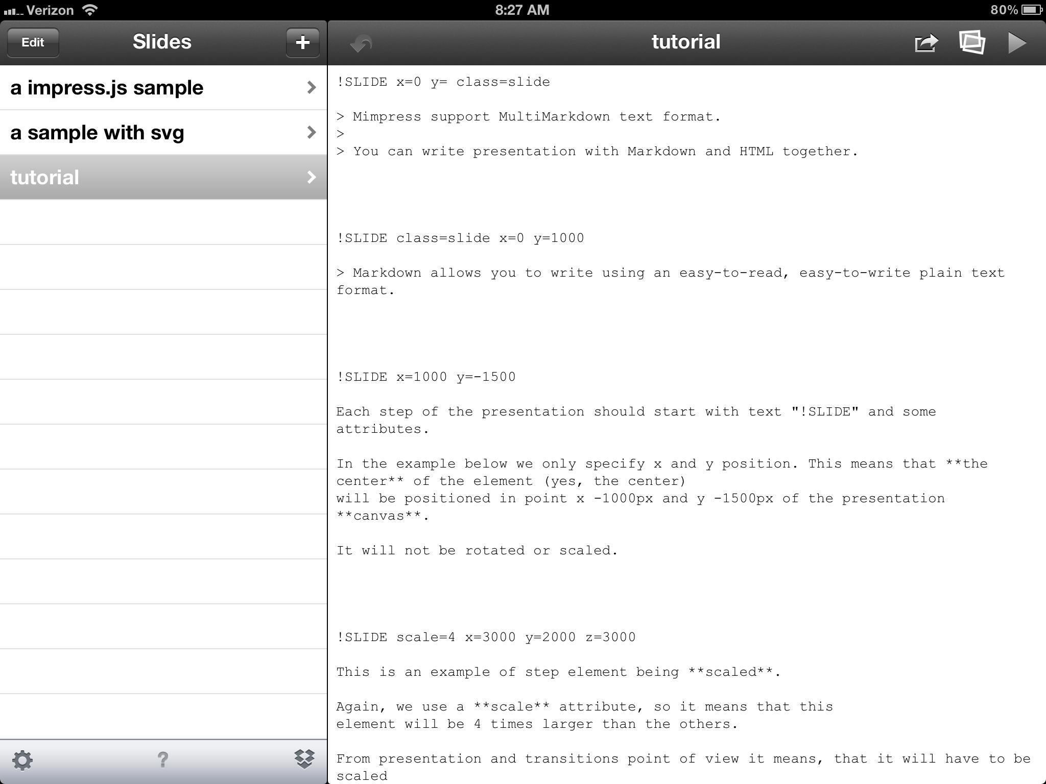 Slide Text Editor
