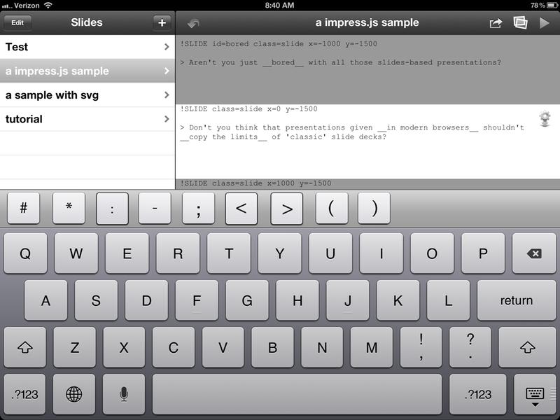 Slide Parameter Input