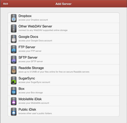 PDF Expert Server Settings