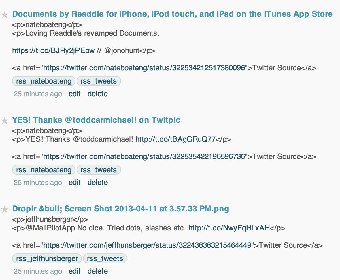 TweetFeeder Script: From Twitter to RSS