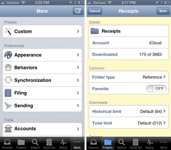 Application and Folder Settings