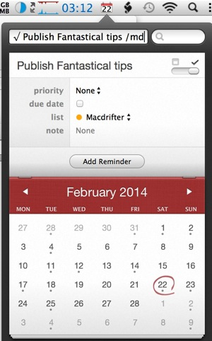 Fantastical Tips for February 24, 2014