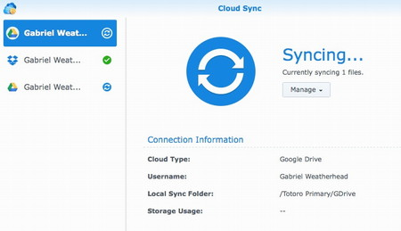 Synology Sync with Dropbox and Google Drive