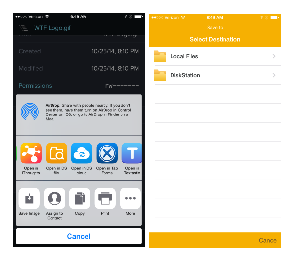 Synology File Management for iOS