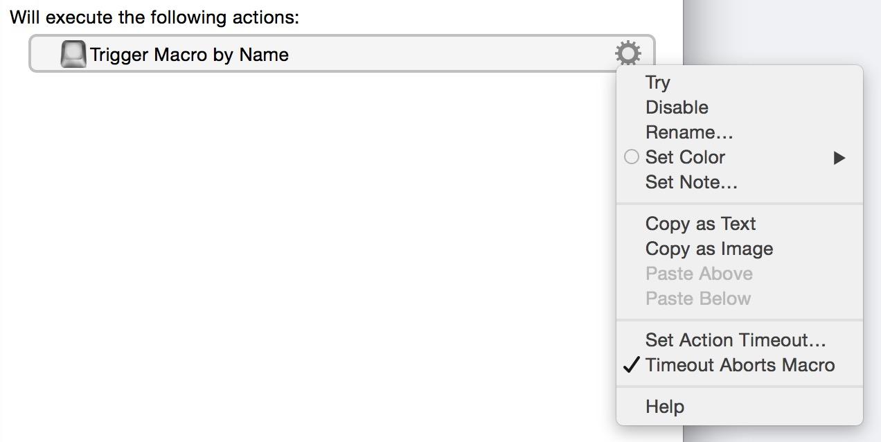 Action Controls