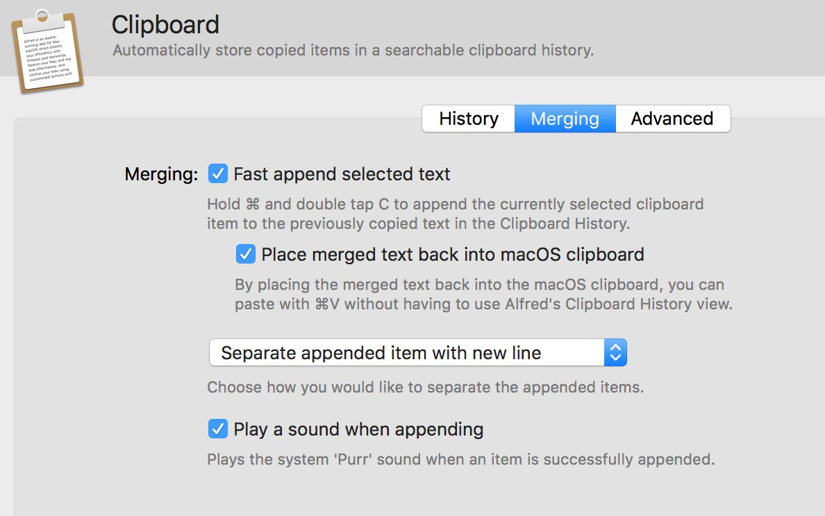 I Imagined That I Needed To Select Items In The Clipboard Manager And Then  Append Them Together That Is Not Correct