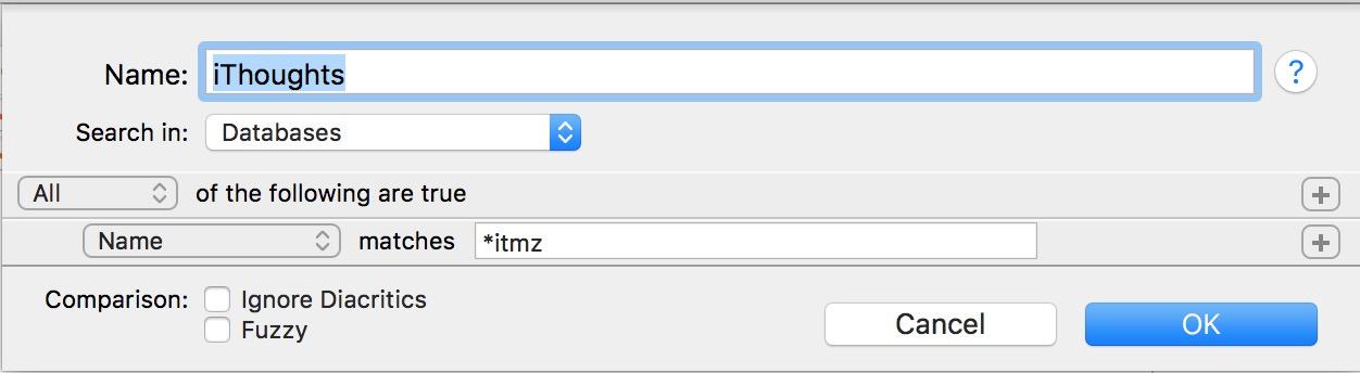 DEVONthink Smart Folder