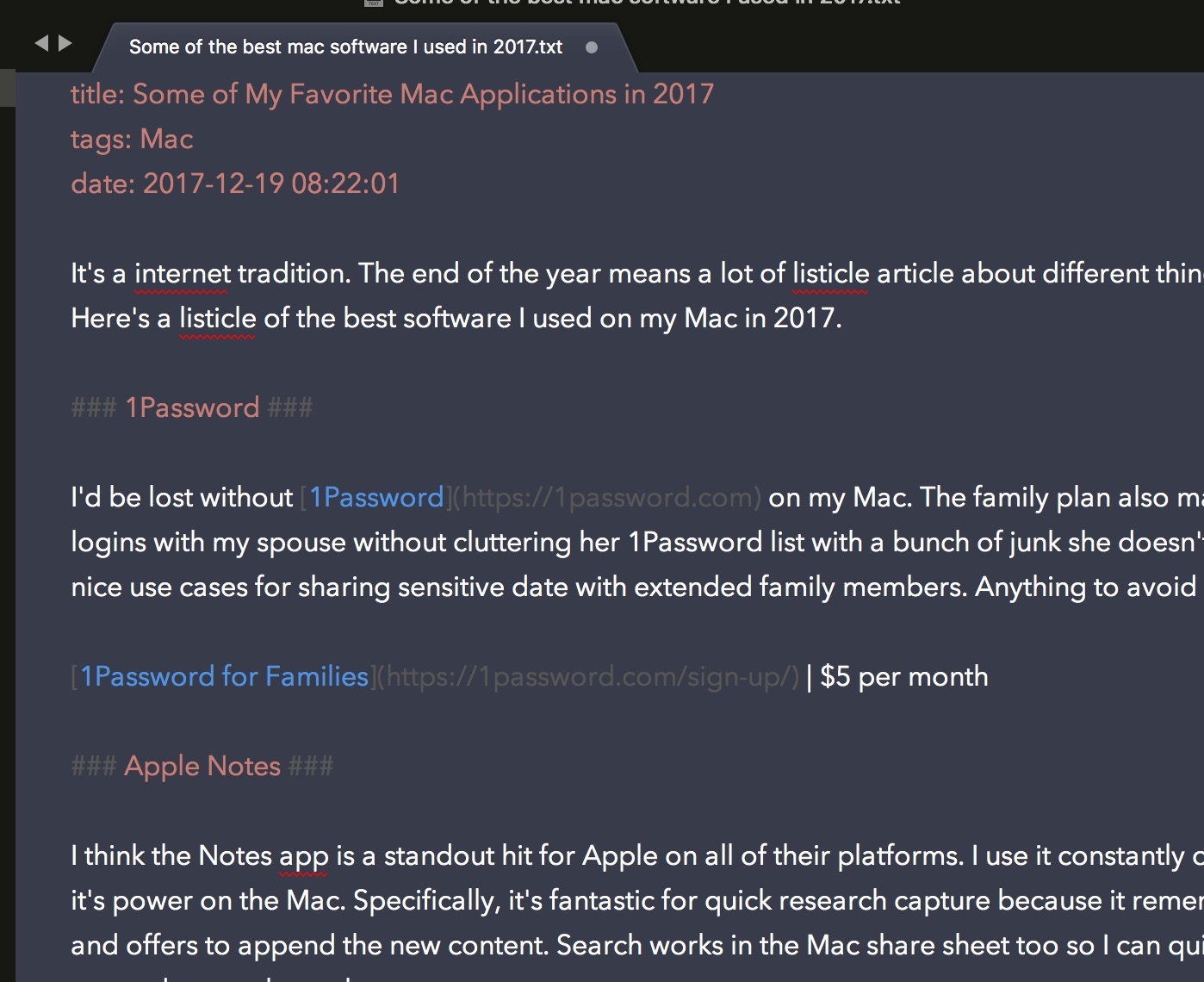 Some of My Favorite Mac Applications in 2017