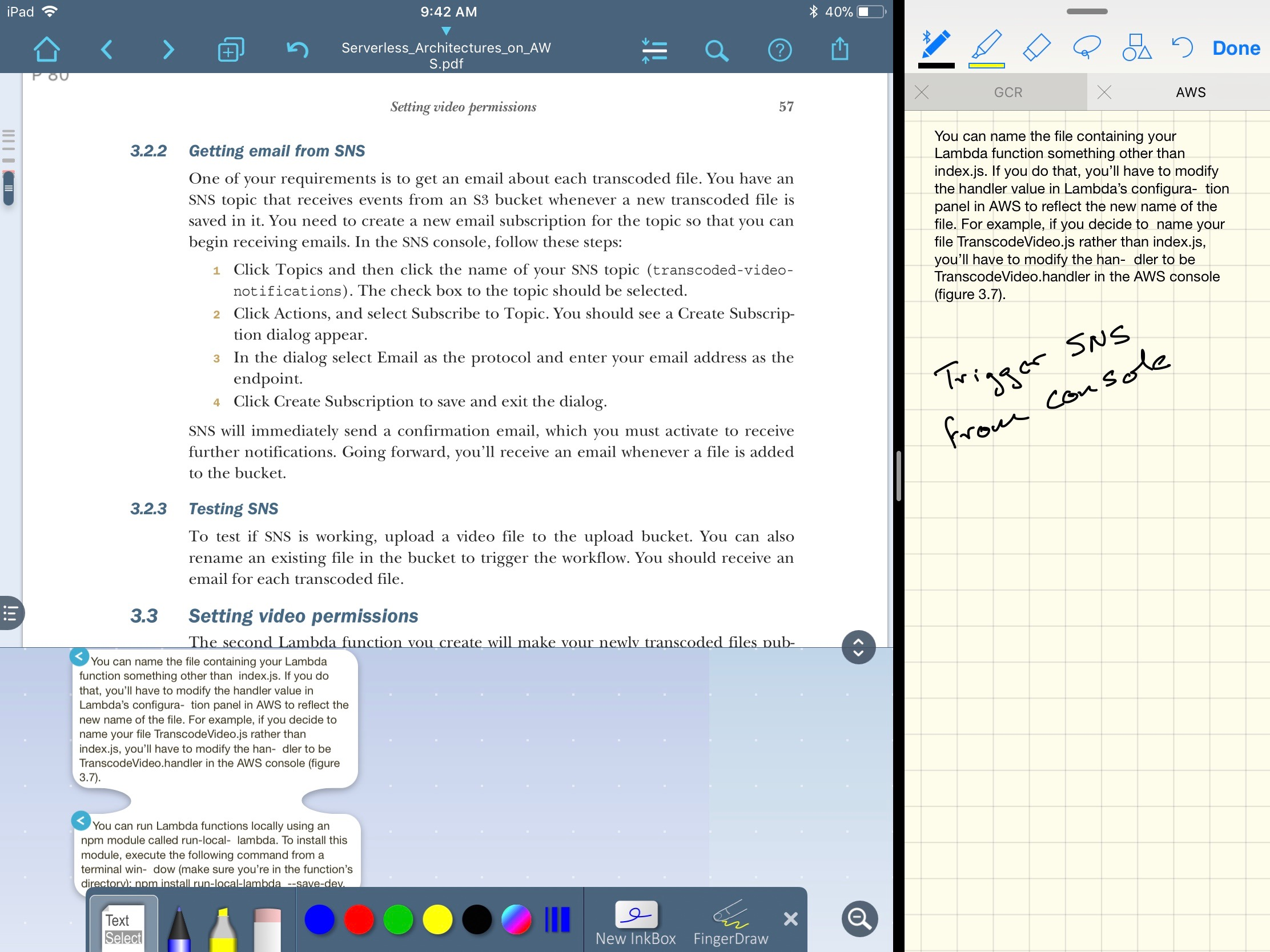 Taking Notes on an iPad with LiquidText