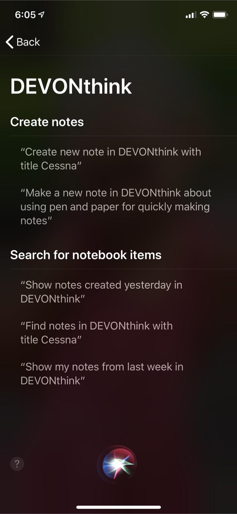 Siri Selections